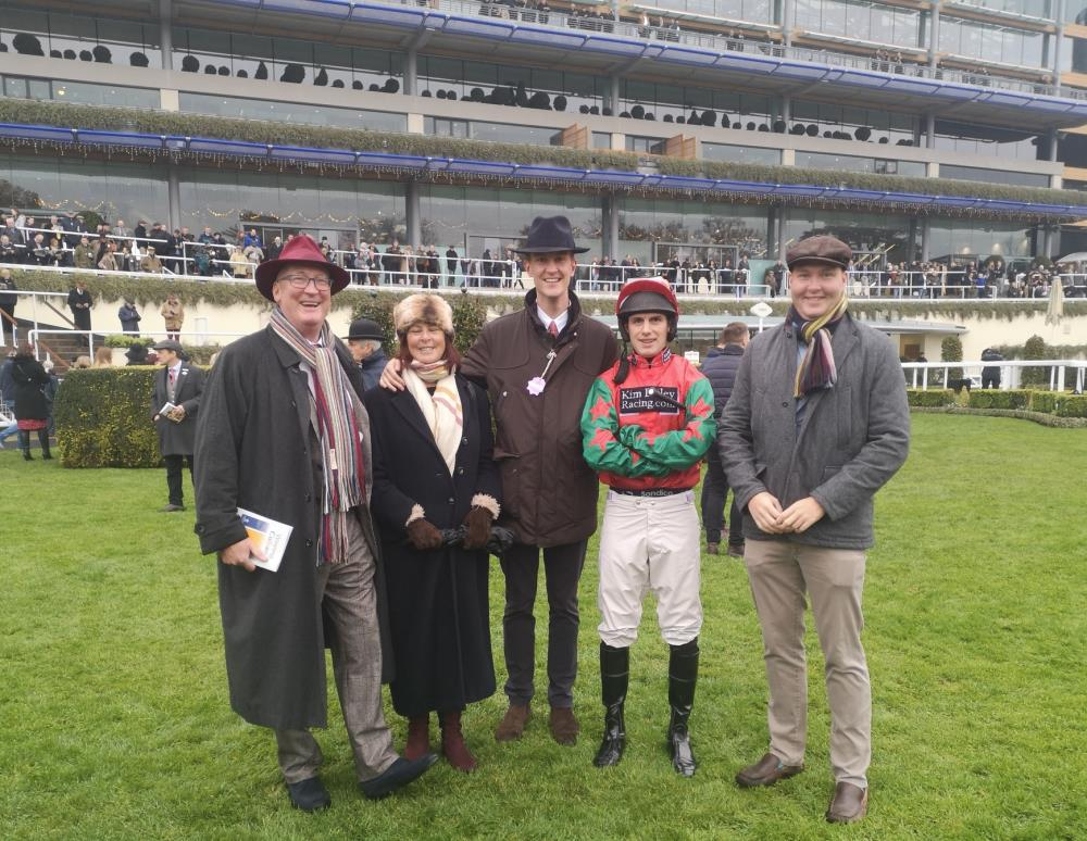 Peter and Ali Bennet-Jones with sons Bertie and Ludo before Prince Llywelyn's race