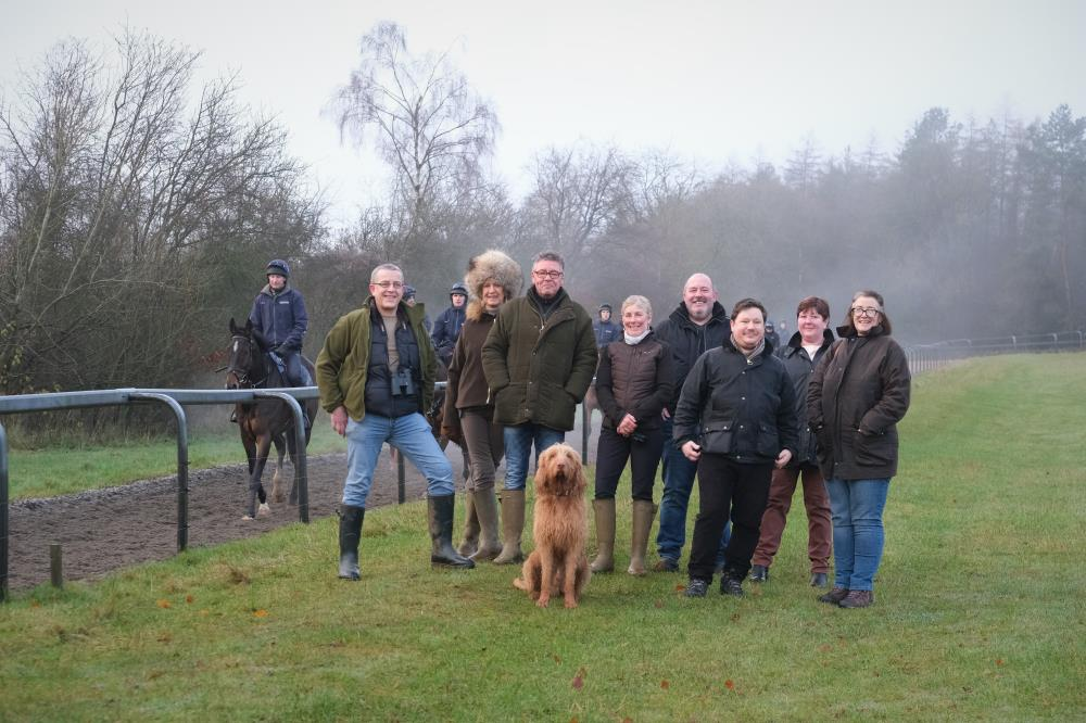 This mornings team for a morning on the gallops..