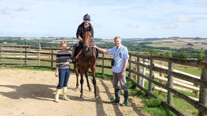 Carol and David Crompton with their horse A Shade Of Bay