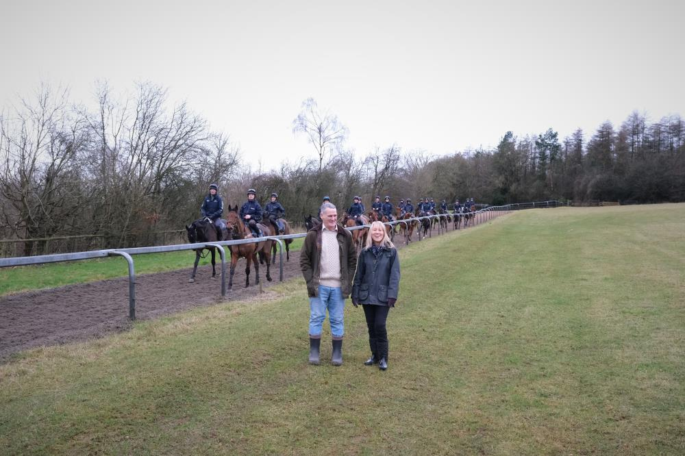 David and Patricia Plaza who were here for a morning on the gallops