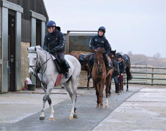 Silver Kayf & Shanacoole Prince heading in to the school