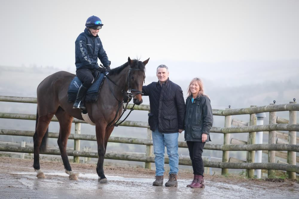 David and Patricia Plaza with their KBRP horse the 2015 Dansant out of Was My Valentine.