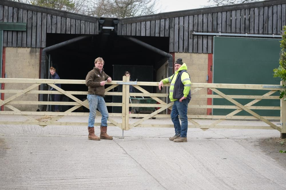 Tony Evans (Lyster Contracts) proudly showing off his new yard gates..