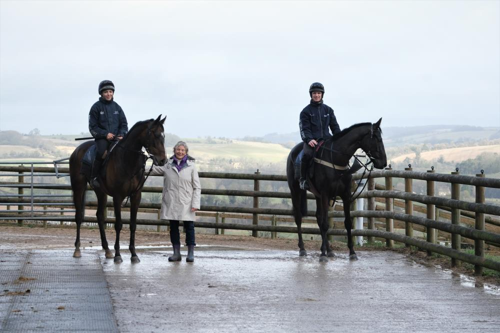 Gwen with her KBRP horses Gerard Mentor and Voyburg