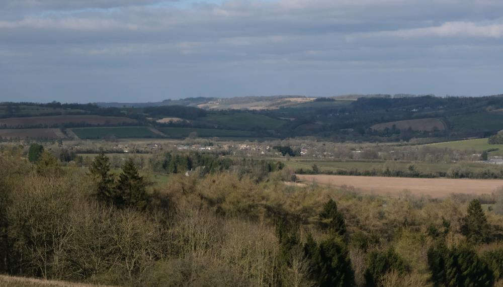 The view from Thorndale looking over Andoversford and Sevenhampton