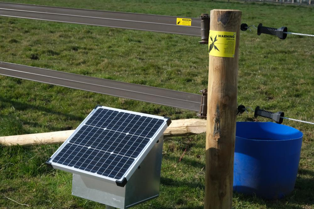 New solar boxes all the way from Germany for the paddocks