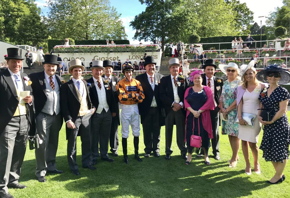 In the paddock with their jockey James Doyle