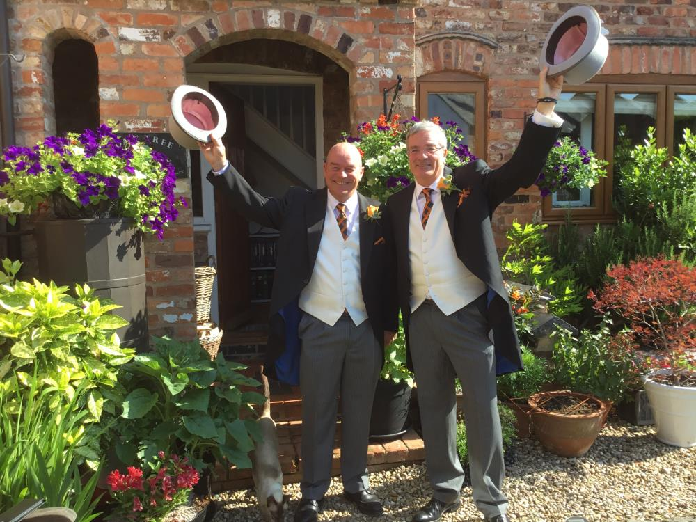Graham Lloyd and Nick Cook ready to leave for Royal Ascot last June..