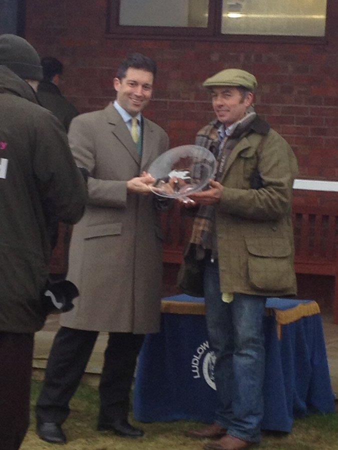 Richard Chugg presenting Andy Martin (our Blacksmith) with the owners prize at Ludlow