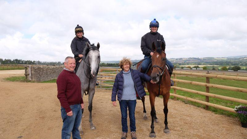 Ian and Pam Farnsworth with Kayf Tara Gelding and the Black Sam Bellamy Filly