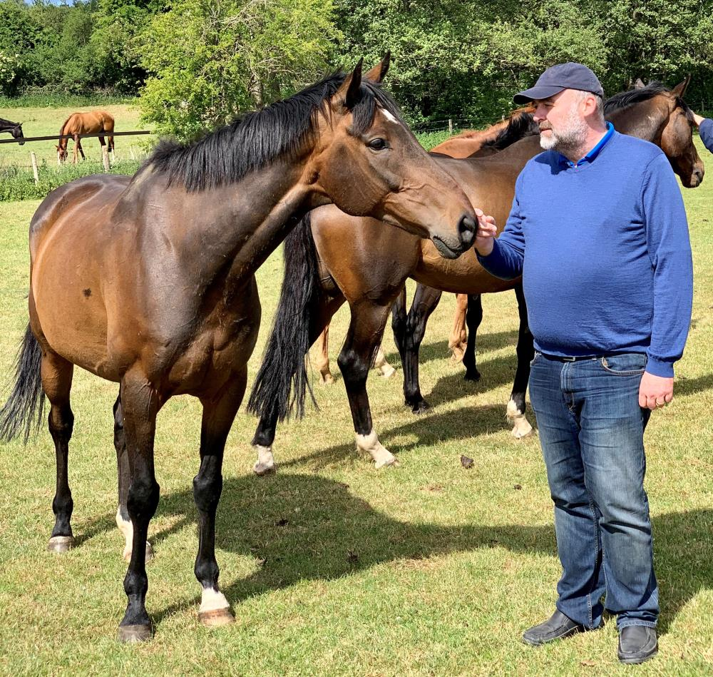 Steve Winter with his KBRP horse Younevercall.