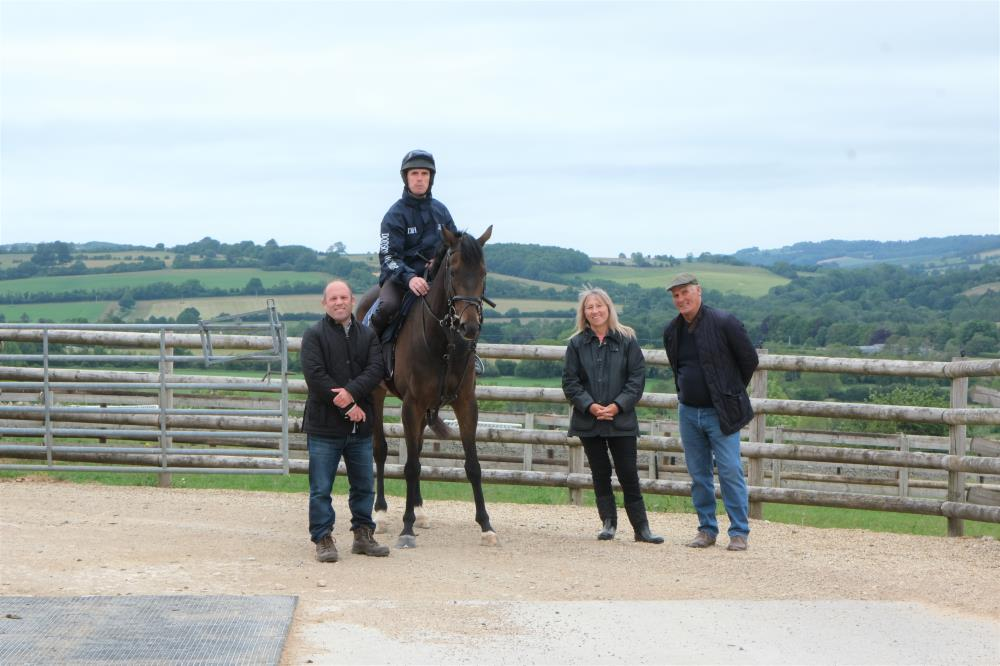 Jonathan, Pat and David with their KBRP horse Dansant Express
