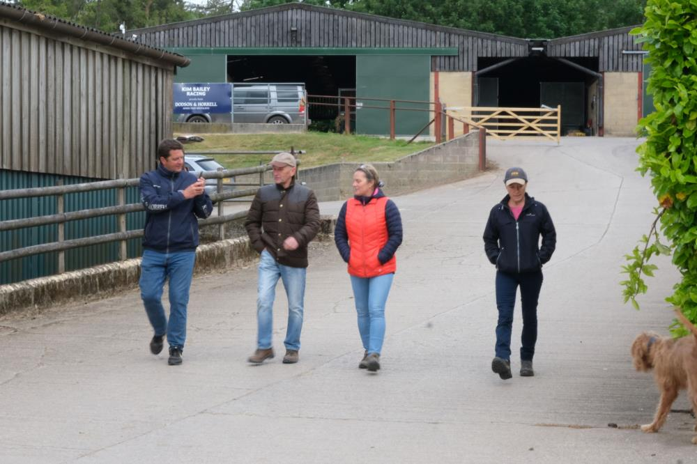 Mat, Chris, Jane and Clare heading to the gallops first lot