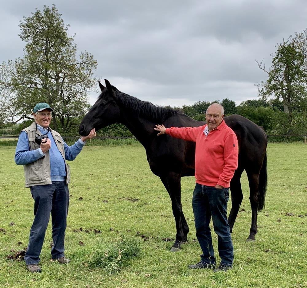 John Lee and Alan James with their KBRP horse Voyburg