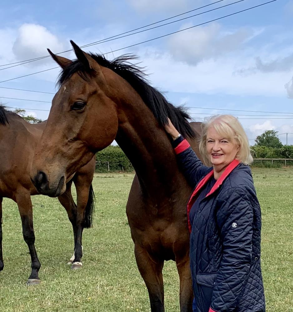 Gillian Clough with her KBRP horse Does He Know