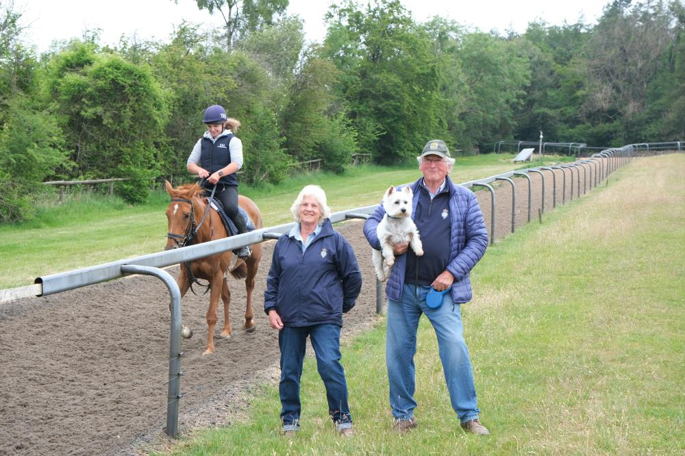 Ann and Ian Dimmer with their KBRP horse Yeavering Belle in the background..