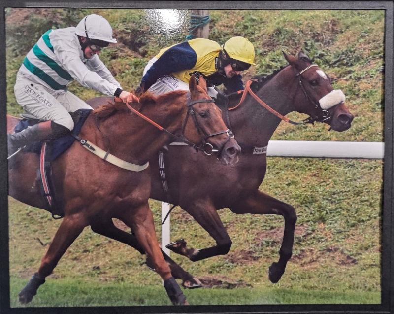 Back in action and getting up to win at Chepstow under top weight