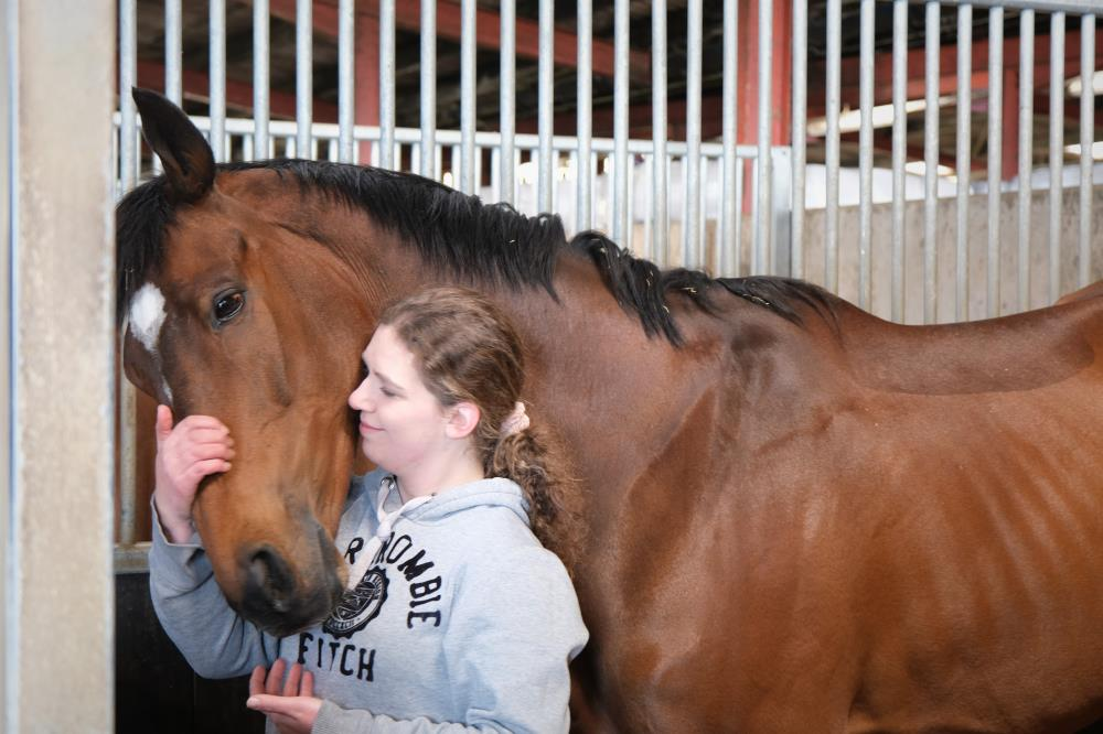 Kate Paddock who looked after Charbel in his latter years. Kate adored looking after him