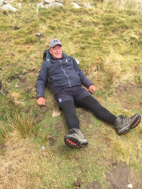 Graham Lloyd.. Flat out as usual? He had just finished the 3 peaks challenge in Yorkshire last weekend..