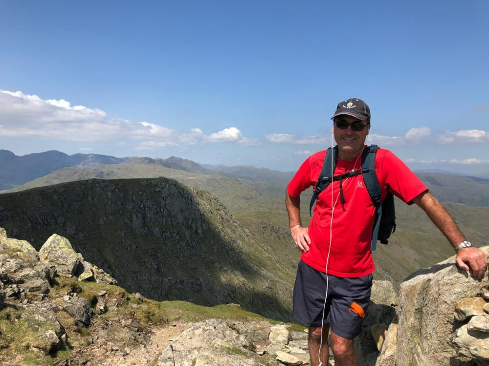 Steve O'Shaughnessy looking cool as usual? up the old man of Coniston