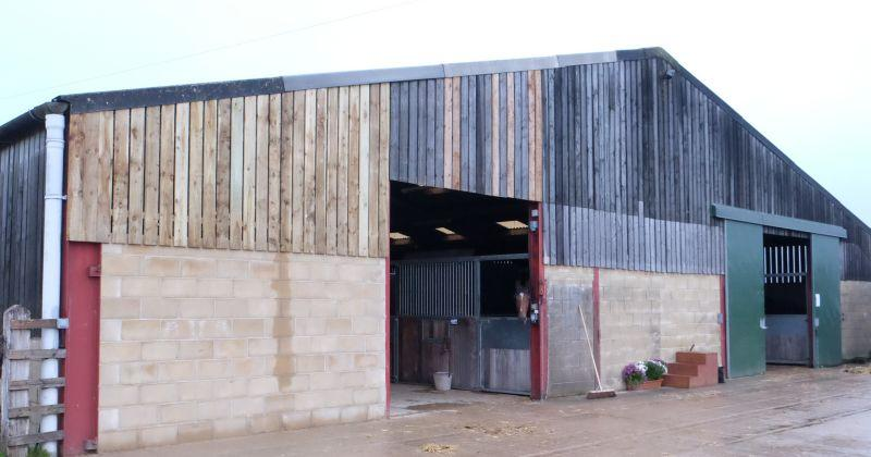 The barn is taking shape for the new stables