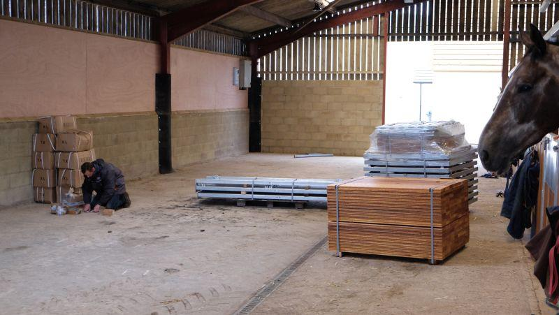 Stables have arrived and about to be fitted