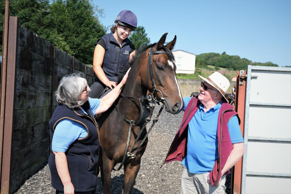 Fiona and Peter with their KBRP horse Gerard Mentor