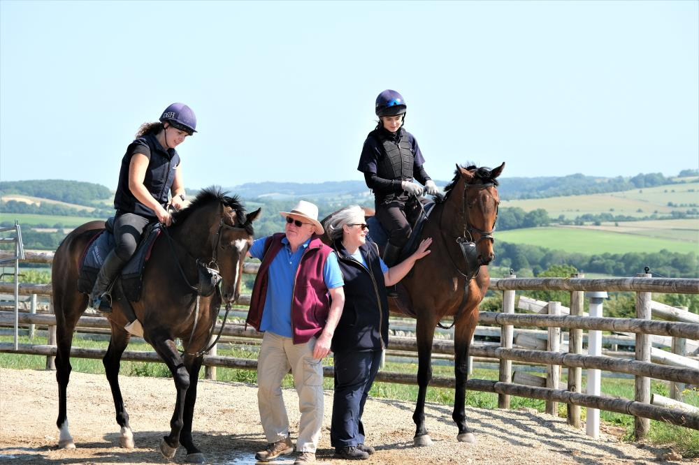 Petr and Fiona with their two KBRP horses Gerard Mentor and Does He Know.