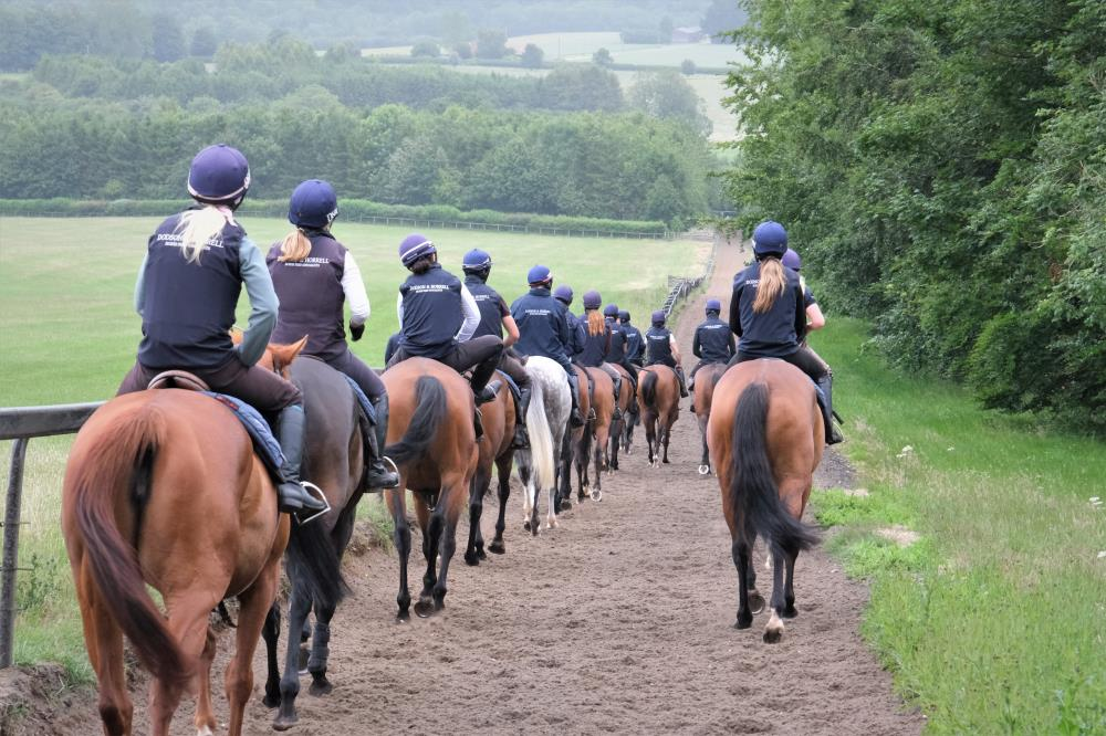 Heading down the gallop after second lot