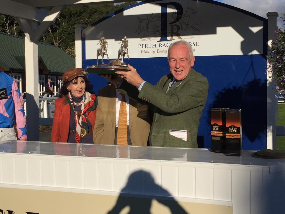 John Perriss collecting the Duke of Atholl Challenge Cup