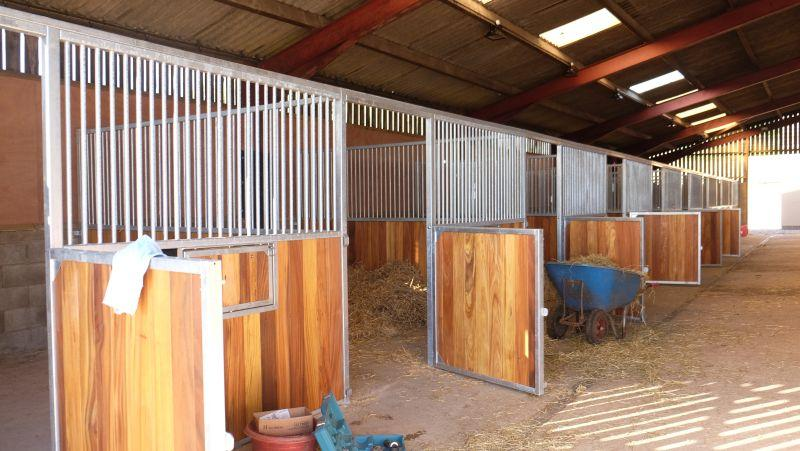 The new stables being bedded up and are ready for use