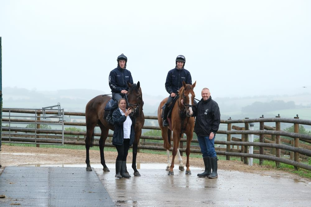 Mandy and John Battershall with their KBRP horses Hendra House and Lord Apparelli