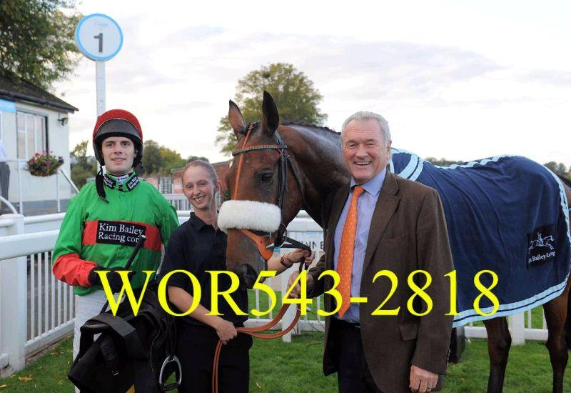 Kevin Clancy with his horse Crazy Jack at Worcester.. Happy team
