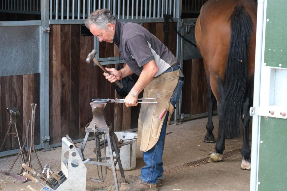 Andy Martin our blacksmith hard at work