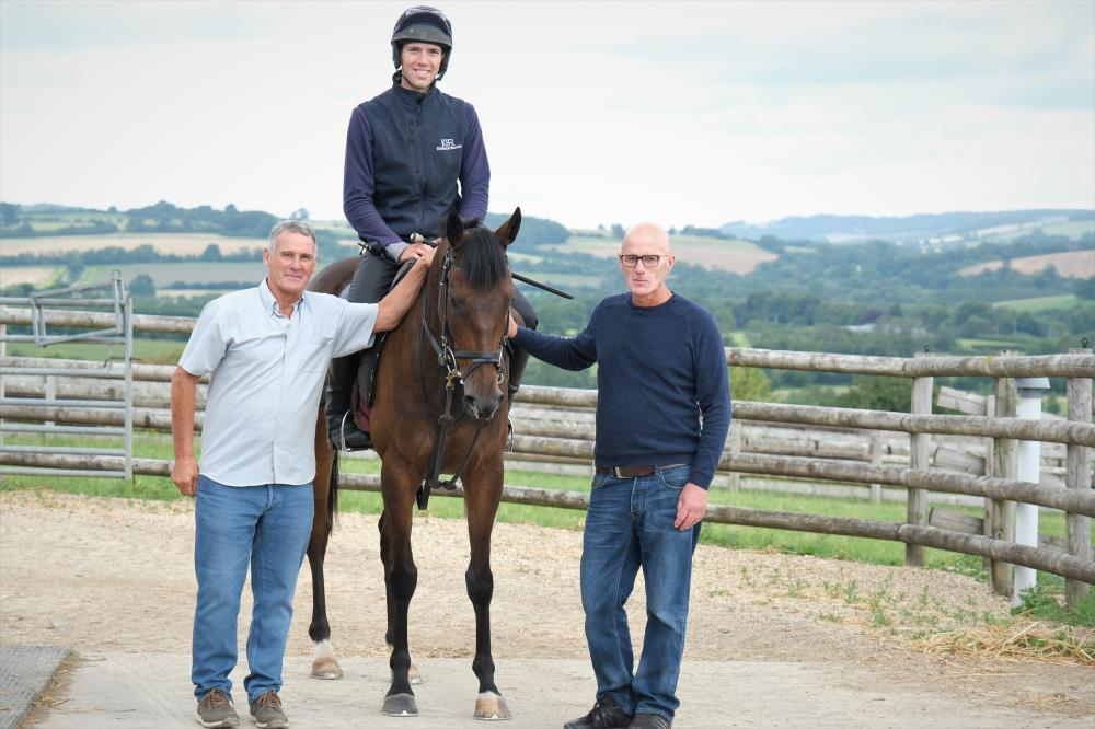 Mark and David Plaza with their KBRP horse Dansant Express