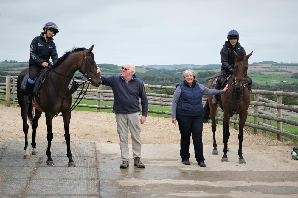 Peter and Fiona Woodhall with their KBRP horses Gerard Mentor and Does He Know