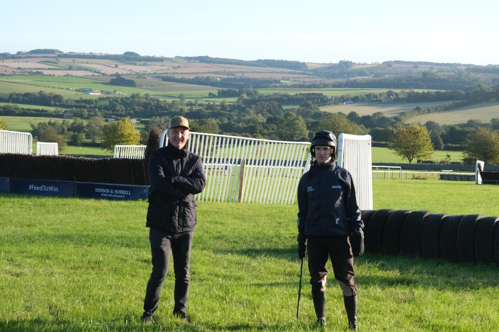 Paul Smith and David Bass chatting on the schooling ground