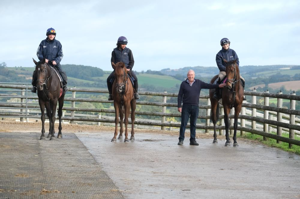 Alan James with 3 of his KBRP horses Donnie Brasco , Shinobi and Does He Know