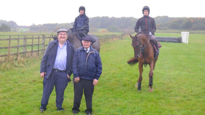 Ian Berry and Bill Moulding who bought a morning on the gallops and breakfast