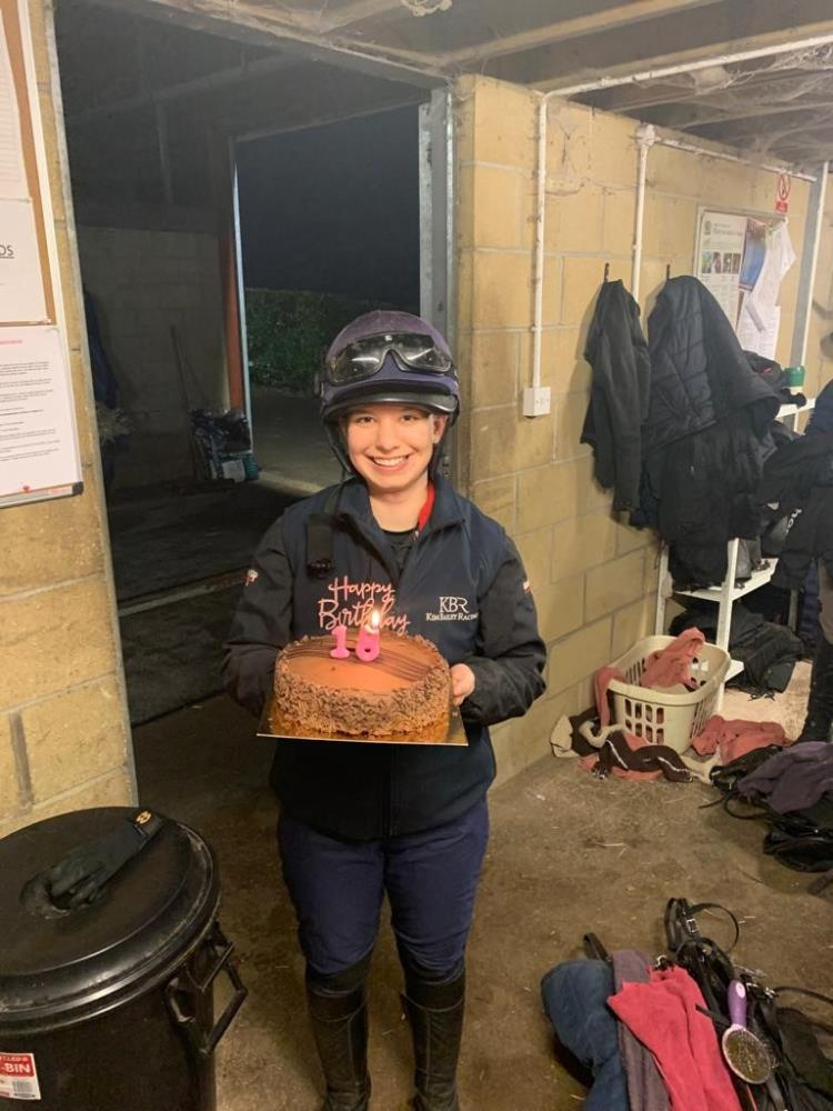 One of our most popular members of staff.. Milly Shaw.. Happy birthday.. Not sure a cake at 6.30am is really a good idea?