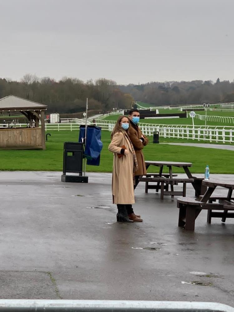 Ben Woodman and Carol-Anne Ward looking lonely at Lingfield
