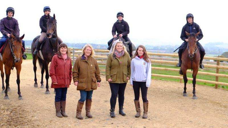 Sue Edwards, Hannah Ashton, FionaTurner and Daisey Major. who were here for a charity morning on the gallops