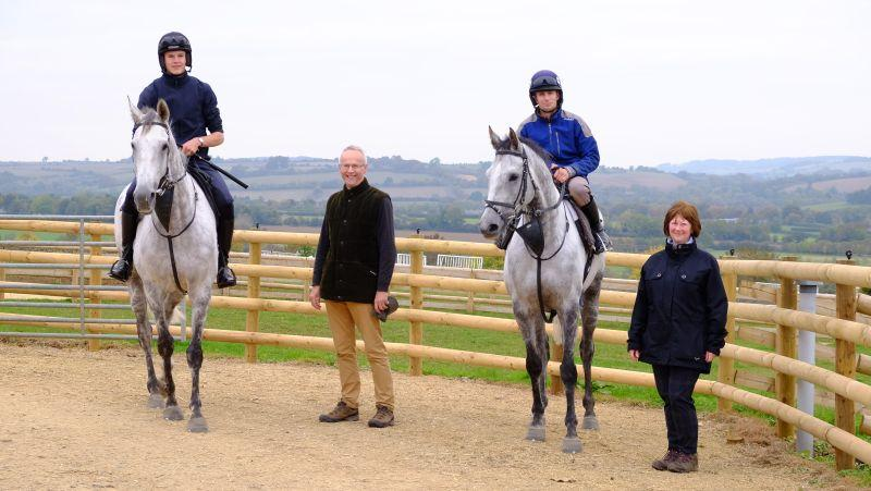 Iain and Angela Bell with their horses Knockanraweley and Silver Eagle