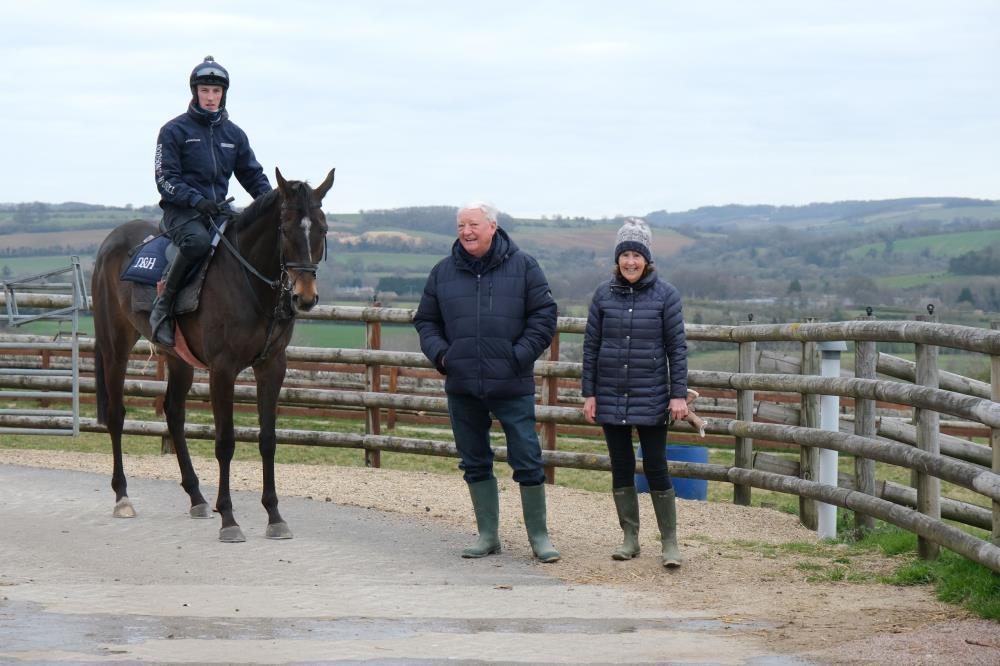 David and Fran Ratcliffe with their KBRS horse Vinndication