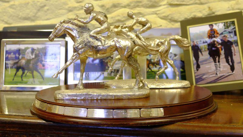 John Perriss's Duke Of Atholl trophy from Perth won by By The Boadwalk.. now engraved with his name by Martins &Co