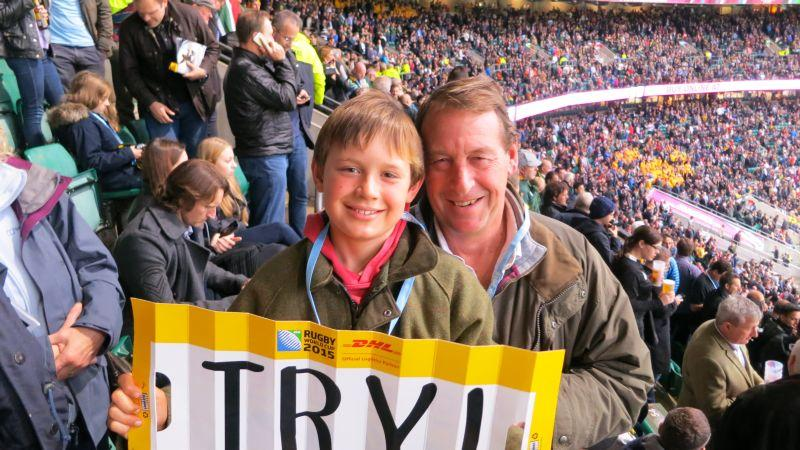 Archie and Me at Twickenham on Saturday