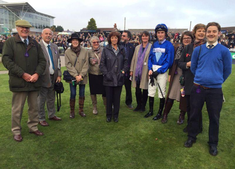 The members of the GSTTKPA charity partnership in the paddock at Wetherby today..