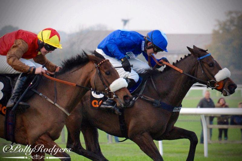 Allez Encore just about to be overtaken for third spot at Wetherby on Saturday