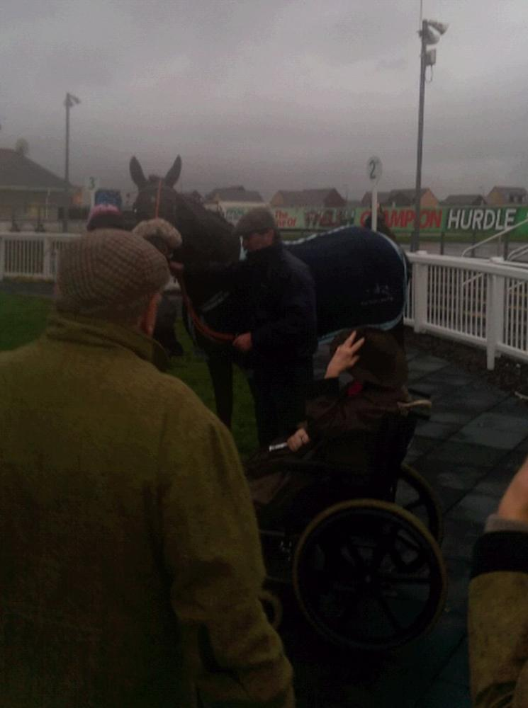 Very wet and wild in the winners enclosure.. Well Done Molly!