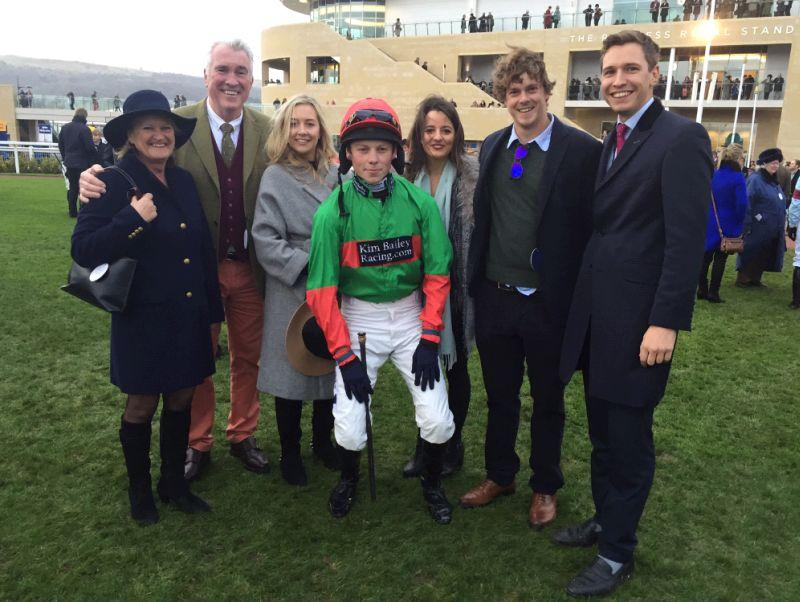 Dermot and Vicky Clancy and Oli Bell with Laura Lewis and spot the famous cricketer..Sam Northeast